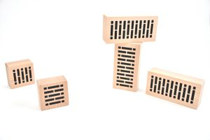 Wooden bricks (imitation of the real bricks), made alder tree wood