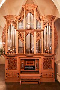 Fotografija orgelske omare na Švedskem